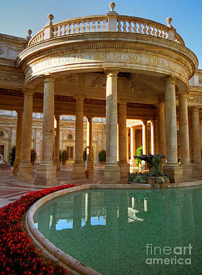Art Print featuring the photograph The Spa At Montecatini Terme by Nigel Fletcher-Jones