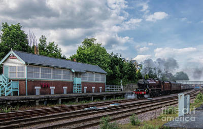 Photograph - The Spa Express Departing Scarborough by David  Hollingworth