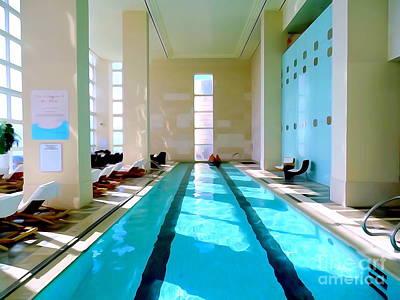 Digital Art - The Spa Pool by Ed Weidman