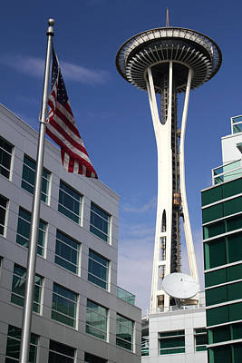 Photograph - The Space Needle Too by Todd Kreuter
