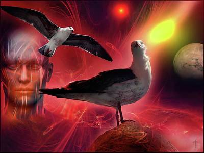 Travel - The Space Seagulls - Mystical Life - Prime World  by Daniel Arrhakis