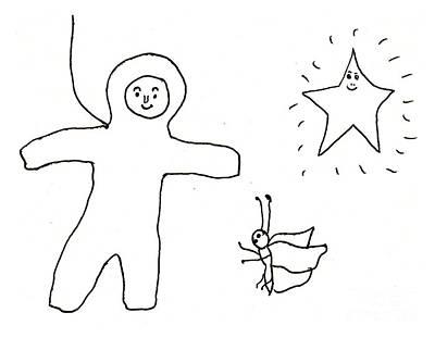 Drawing - The Spaceman by Sophia Landau