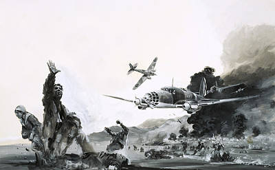 Jet Painting - The Spanish Civil War by Graham Coton