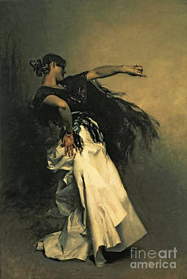 Silk Painting - The Spanish Dancer by John Singer Sargent