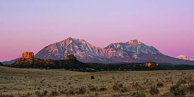 Rocky In Spring Photograph - The Spanish Peaks by Aaron Spong