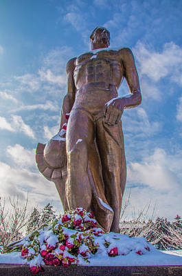 Photograph - The Spartan Statue Michigan State by John McGraw