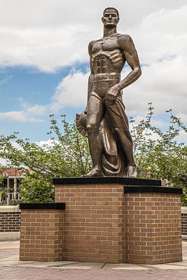 The Spartan Statue - Michigan State University Art Print by John McGraw