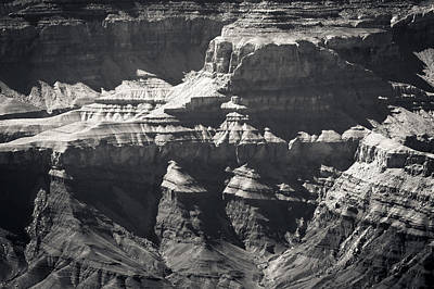 Photograph - The Spectacular Grand Canyon Bw by Julie Niemela