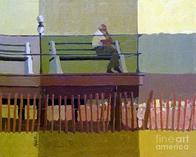 Boardwalk Painting - The Spectator by Donald Maier