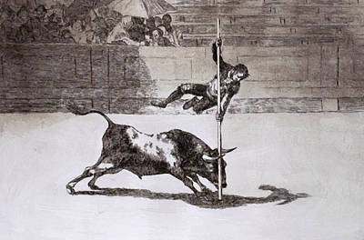 Painting - The Speed And Daring Of Juanito Apibni In The Ring Of Madrid 1816 by Goya Francisco