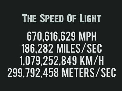 Painting - The Speed Of Light - Scientific Art Poster by Celestial Images
