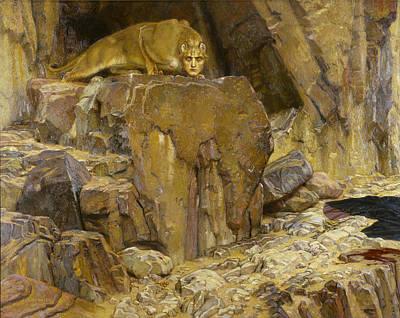Rosen Painting - The Sphinx by Georg von Rosen