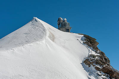 Photograph - The Sphinx Observatory Above The Aletsch Glacier. by Brenda Jacobs