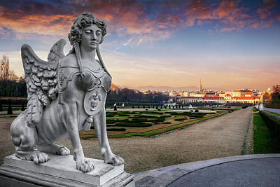 Charming Town Photograph - The Sphinx Of The Belvedere Vienna  by Carol Japp