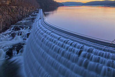 The Spillway At Dawn Art Print