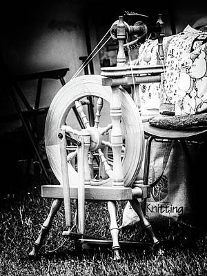 Fibre Art Photograph - The Spinning Wheel by Angela Aird