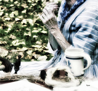 Hand-weaving Photograph - The Spinster  by Steven Digman