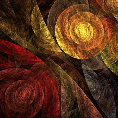 Modern Digital Art Digital Art Digital Art - The Spiral Of Life by Oni H