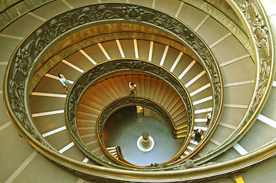 Photograph - The Spiral Staircase by Rumiana Nikolova