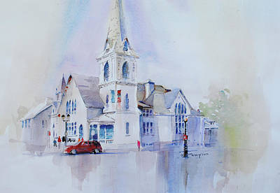 Painting - The Spire Center by P Anthony Visco