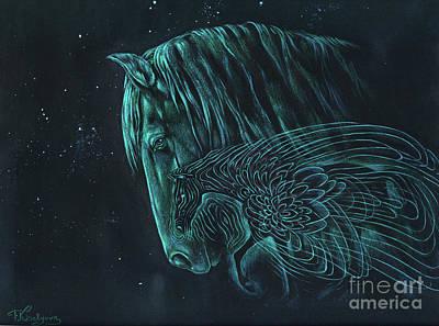 Visionary Painting - The Spirit Horse by Tatiana Kiselyova