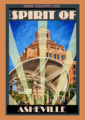 Digital Art - The Spirit Of Asheville by John Haldane