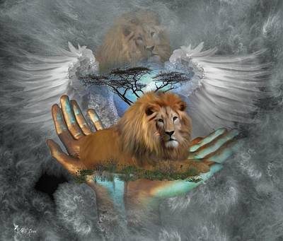 Digital Art - The Spirit Of Cecil Lives On  by Ali Oppy