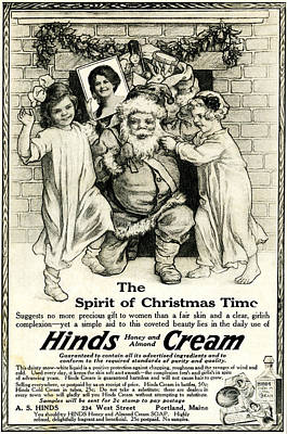 Painting - The Spirit Of Christmas Time Advert Vintage by R Muirhead Art