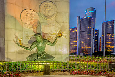 Photograph - The Spirit Of Detroit  by Pravin  Sitaraman