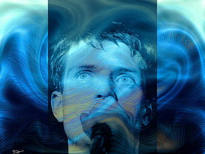 Soul Photograph - The Spirit Of Ian Curtis Lives by Abstract Angel Artist Stephen K