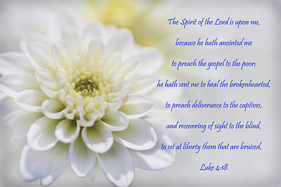 To Heal Photograph - The Spirit Of The Lord Is Upon Me by Kathy Clark