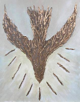 Communion Mixed Media - The Spirit Of The Lord by Judy Jones