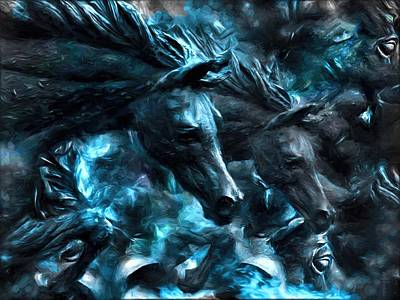 The Spirit Of The War Horses  Original by Daniel  Arrhakis