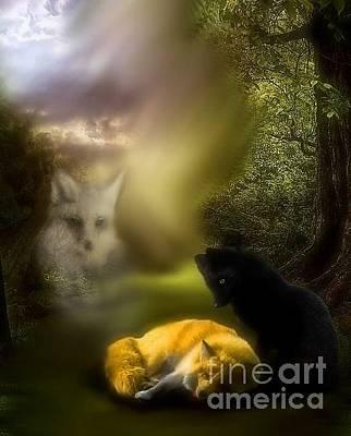 Digital Art - The Spirit Watches by Scarlett Royal