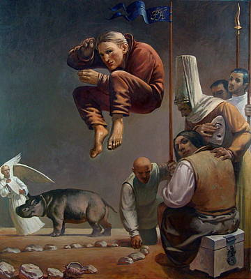 Figurativ Painting - The Spiritual Desert by Faizulla Khamraev