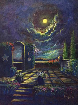 Painting - The Spirit Of Inspiration  The Sun Moon And Stars by Randol Burns