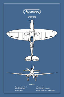 The Spitfire Art Print by Mark Rogan