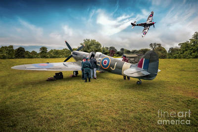 Old Digital Art - The Spitfire Parade by Adrian Evans