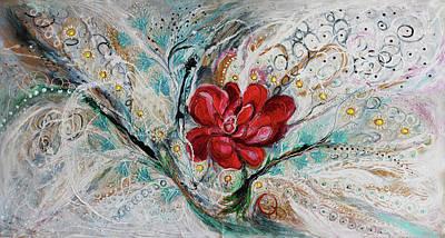 Oriental Style Painting - The Splash Of Life 28. Power Of Peony by Elena Kotliarker