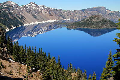 Photograph - The Splendor Of Crater Lake by Laurel Talabere