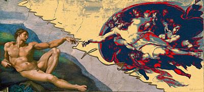 The Splices - Creation Of Adam Art Print