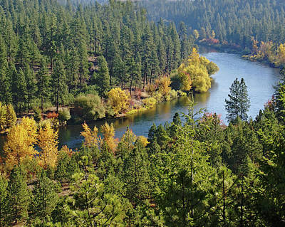 Art Print featuring the photograph The Spokane River  by Ben Upham III