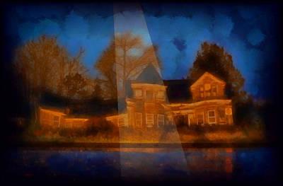 Digital Art - The Spooky House Of Ilence by Mario Carini