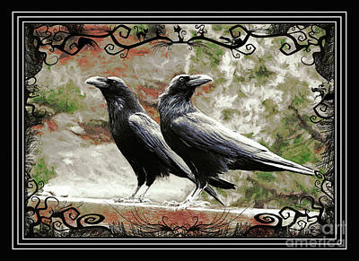 The Spooky Ravens Art Print