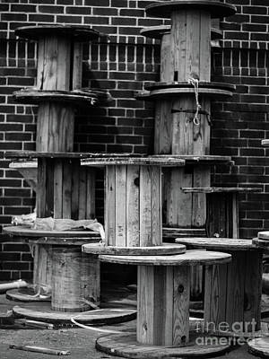 Christmas Patents Rights Managed Images - The Spools of South End Royalty-Free Image by Robert Yaeger