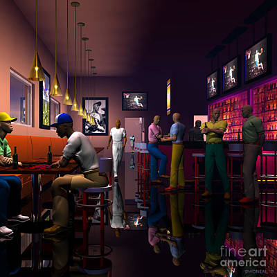 The Sport's Bar Art Print by Walter Oliver Neal
