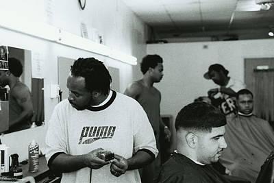Shop Hip Hop Photograph - The Spot Barber Shop by Ukeim Ortiz