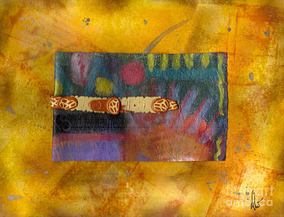 Polymer Mixed Media - The Spotted Road by Angela L Walker