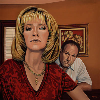 The Sopranos Painting Original by Paul Meijering