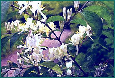 Honeysuckle Painting - The Spring Honeysuckle by Mindy Newman
